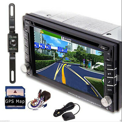 "HD 6.2"" Double 2Din I Dash Car Stereo DVD Player GPS Navigation BT Radio+CAMERA~"