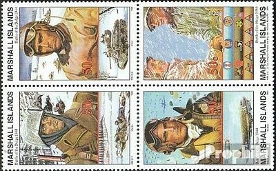 Marshall-Islands 561-564 block of four unmounted mint / never hinged 1994 Histor
