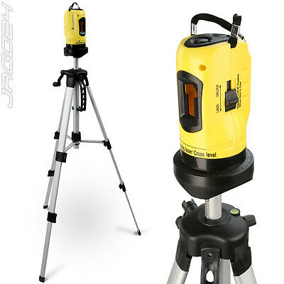 Rotary Laser Level Cross Line Self Levelling Measuring Tool with Tripod Yellow