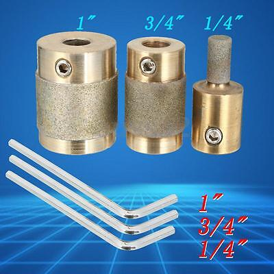 """1"""" 3/4"""" 1/4"""" Brass Chrome-plating Gold Stained Glass Grinder Head Bit Tools"""