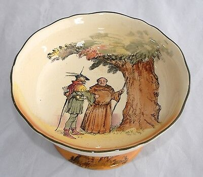 Large Vintage Royal Doulton UNDER THE GREENWOOD TREE D6094 Footed Bowl/Comport