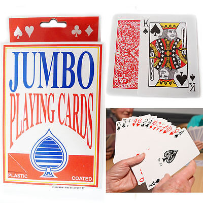 Jumbo Playing Cards Deck Extra Large Cards Giant Playing Cards Pack of 52 Large.