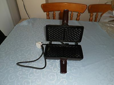 Super Breville Brown Heavy Duty Non Stick Belgian Waffle Maker + Recipes GC
