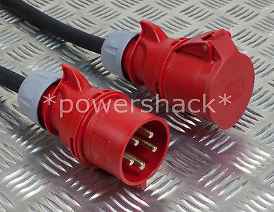 *3 Phase Tough Rubber Extension Cables* -16 & 32 Amp, 3 -25 Metres