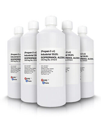 IPA 5 x 1L IPA Isopropanol ALCOHOL Industrial PureChem 99.9%