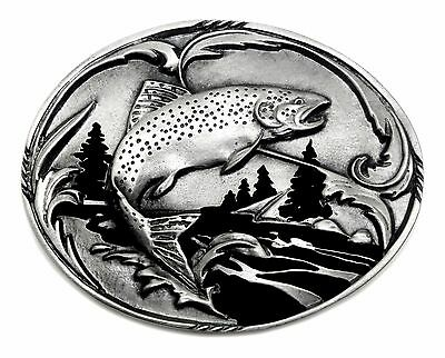 Fishing Belt Buckle Trout Design Fish Authentic Siskiyou Buckle Co Product