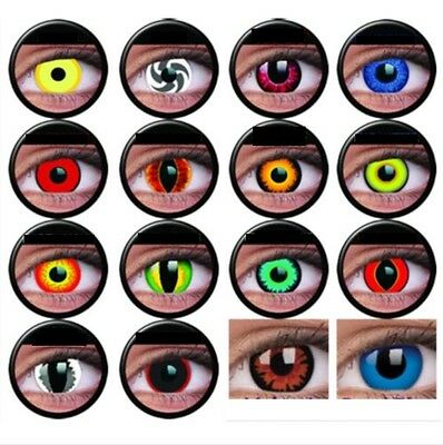 Crazy & Fun Halloween Contact Lens Kontaktlinsen lentilles Cosplay Beauty Eyes