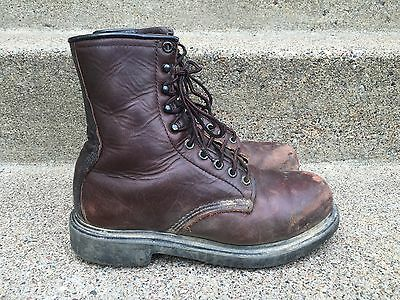 Red Wing Men's Work Hunting Work Motorcycle Leather Boots Made in USA Size 5.5