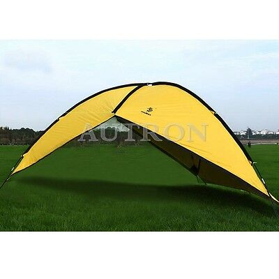 Shade Shelter Beach Canopy Camping Hiking Tent Portable Picnic Outdoor Yellow
