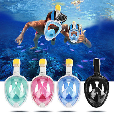 2017 Swimming Full Face Mask Surface Diving Snorkel Scuba for GoPro S/M/L/XL