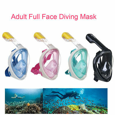 Hot Full Face Snorkel Surface Diving Swimming Mask Underwater for GoPro S/M/L/XL