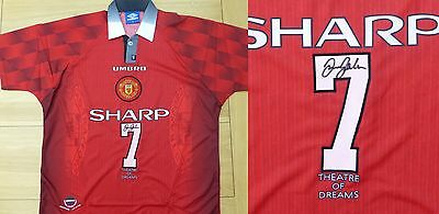 1996-98 David Beckham Signed Man Utd Official Shirt No.7 (8197)