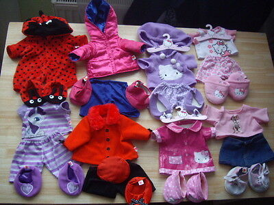 Large Bundle Of Design A Bear Clothes Outfits Build A Bear Factory 30+ Items