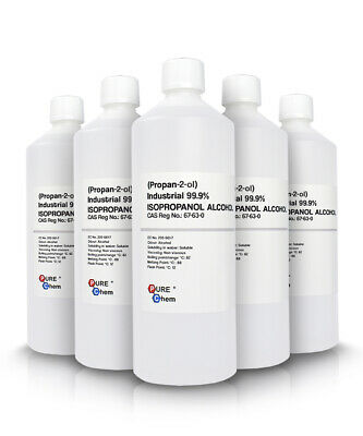 IPA 10 x 1L IPA Isopropanol ALCOHOL Industrial PureChem 99.9%