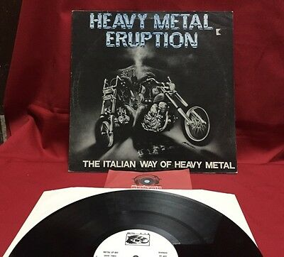 Heavy Metal Eruption - Italian metal compilation -Vinyl, Lp, Gat, 1983 - Raro