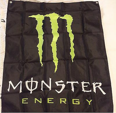 Drapeau banner Monster Energy drink 100x80 neuf sous emballage