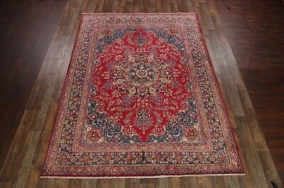 Top Deal Semi-Antique Traditional Floral 10x13 Mashad Persian Oriental Area Rug