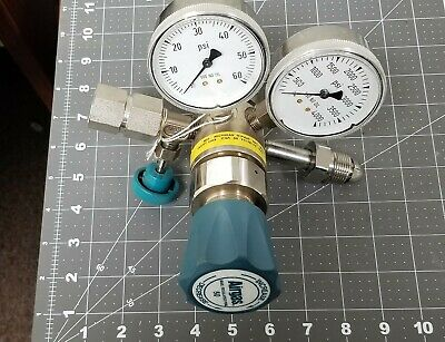 Airgas Two Stage Brass 0-50 psi Analytical Cylinder Regulator Y12244B 244B F6S4