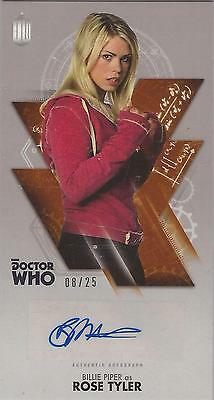 "Doctor Who Widevision: Bronze Billie Piper ""Rose Tyler"" Autograph Card #08/25"