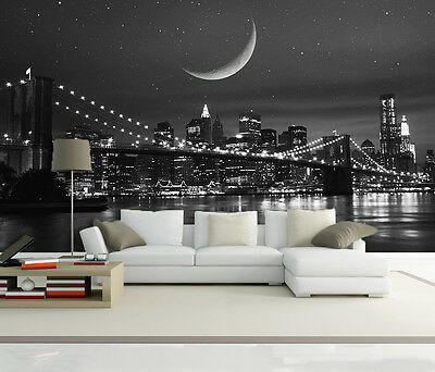 3D Moon Night City 82 Wall Paper Murals Wall Print Decal Wall Deco AJ WALL PAPER