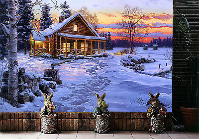 3D Snow Land House 82 Wall Paper Murals Wall Print Decal Wall Deco AJ WALLPAPER