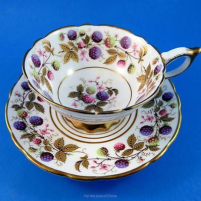 """Royal Stafford """" Golden Bramble """" Tea Cup and Saucer"""
