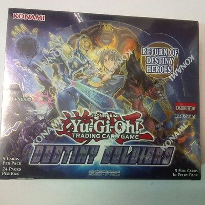 Yu-Gi-Oh Destiny Soldiers Factory sealed 1st edition booster box