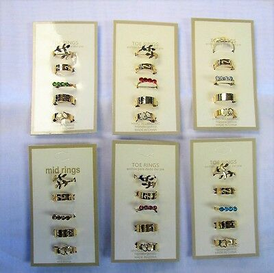 Wholesale Jewelry Toe Ring Rings 12 PC Lot Gold Adjustable Fashion New Toe Rings