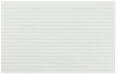 Pack of 100 Record Cards- White Feint Ruled Flash Revision Index