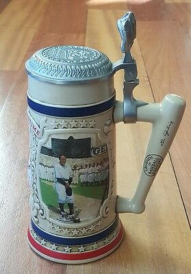 Legends of Baseball Bradford Collectible Stein LOU GEHRIG NY Yankees COA