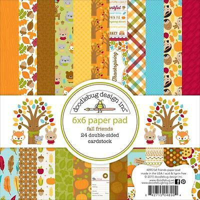Doodlebug Fall Friends Autumn (1) 12X12 Scrapbook Collection Pack Kit