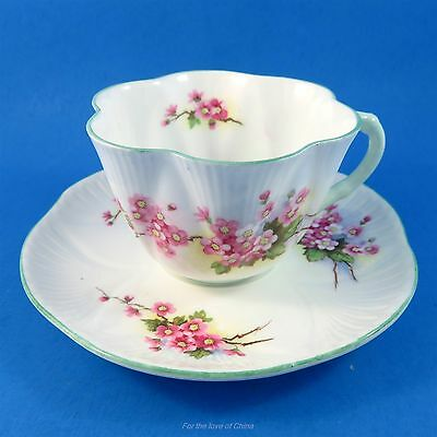 Pretty Pink Floral Shelley Tea Cup and Saucer Set