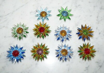 ❤❤❤  10 Old Matchless Star Xmas Lights - Original around 1930   ❤❤❤  (# 6585)