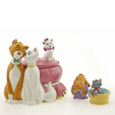 Disney Aristocats Cookie Jar With Salt & Pepper Set Limited Edition of 150 NIB