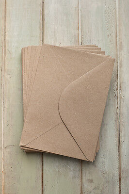 C5 / A5 110gsm QUALITY BROWN KRAFT ENVELOPES RECYCLED CARDS PAPER WEDDING CRAFTS