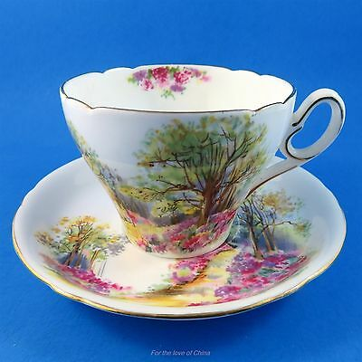 """Scenic """" Englands Charm """" Shelley Tea Cup and Saucer Set"""