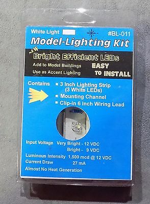 (2) 1 Each of Busch Building Lights 4280 & Model Lighting Kit BL-011 NIP