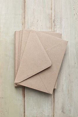 C7 Small, Mini Recycled Kraft Fleck Envelopes 113mm x 82mm* high quality UK MADE