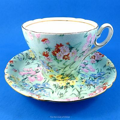 "Pretty Chintz ""Melody"" Shelley Tea Cup and Saucer Set"