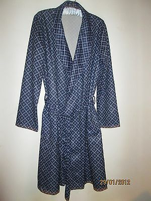 MENS VINTAGE DRESSING GOWN-SMOKING JACKET-ROBE-JOHNS-CRAFT-1970s-MOD