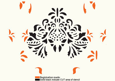 Damask Stencil Vintage French Template Paint Furniture Home Decor Crafts FL73