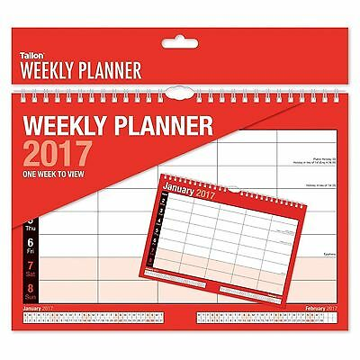 2017 WEEKLY PLANNER-STAFF ROTA -A4 SIZE one week to view design -WH3 -SPR124 NEW