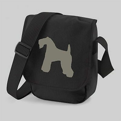 Kerry Blue Terrier Bag, Silhouette Messenger Shoulder Bags Birthday or Xmas Gift