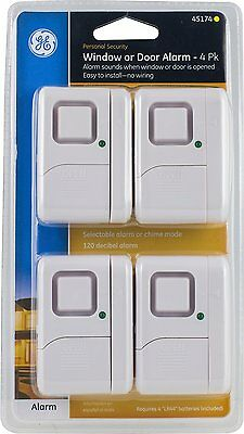 GE 45174 Magnetic Indoor Window Alarms 4 Pack