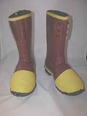 Rubber Safety Boots Full Metatarsal Guard 12-inch  Ranger 2155 by Servus Size 8