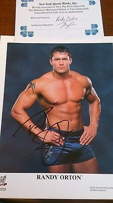 Randy Orton WWE WWF Signed Autograph Promo Photo P776(with COA) Wrestling