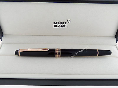 NEW Montblanc Meisterstück Red Gold-Coated Classique Rollerball 112678