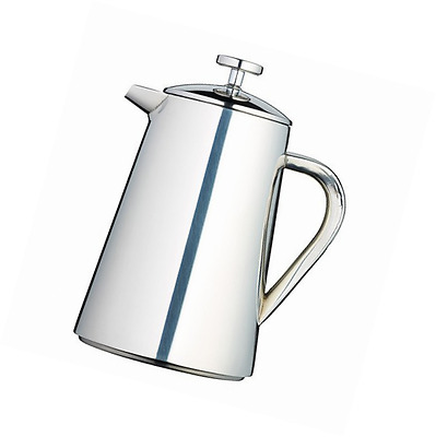 Kitchen Craft 1 Litre Stainless Steel Double Walled Insulated Cafetiere, Silver