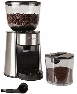 Mr. Coffee Automatic Burr Mill Grinder With 18 Custom Grinds, Silver, BMH23