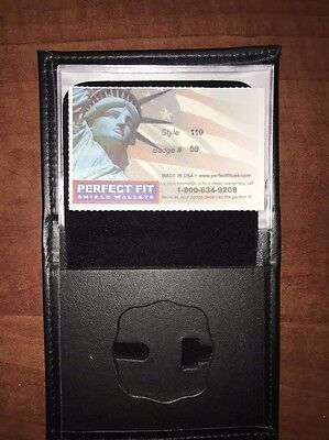 Fire Department Firefighter Perfect Fit Badge Wallet Style 110 Cut 59
